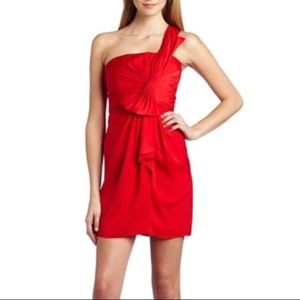 BCBGMAXAZRIA Satin Dress JEWEL Red